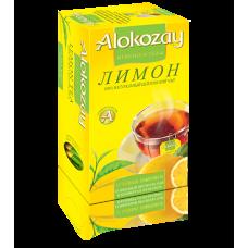 Чай Alokozay чёрный с ЛИМОНОМ ф/п  25х2г