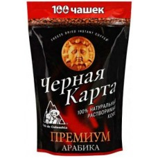 Кофе Чёрная Карта Премиум растворимый 190г пакет
