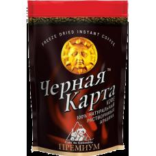 Кофе Чёрная Карта Премиум растворимый 75г пакет